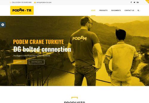 لقطة شاشة لموقع podem crane turkey بتاريخ 21/03/2021 بواسطة دليل مواقع تبادل بالمجان