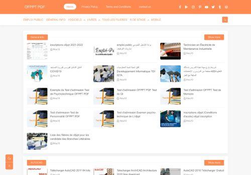 لقطة شاشة لموقع OFPPT PDF بتاريخ 29/03/2021 بواسطة دليل مواقع تبادل بالمجان