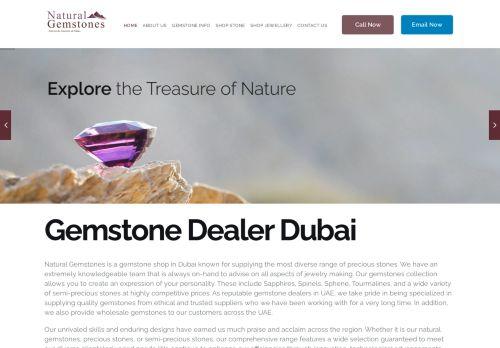 لقطة شاشة لموقع Natural Gemstones Dubai بتاريخ 30/03/2021 بواسطة دليل مواقع تبادل بالمجان