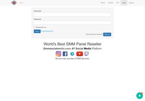 لقطة شاشة لموقع Smm socialmedia بتاريخ 16/04/2021 بواسطة دليل مواقع تبادل بالمجان