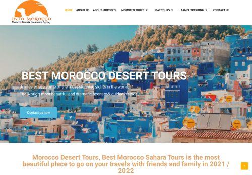 لقطة شاشة لموقع intomorocco بتاريخ 02/05/2021 بواسطة دليل مواقع تبادل بالمجان