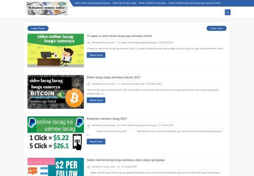 لقطة شاشة لموقع mahamed money online بتاريخ 03/05/2021 بواسطة دليل مواقع تبادل بالمجان