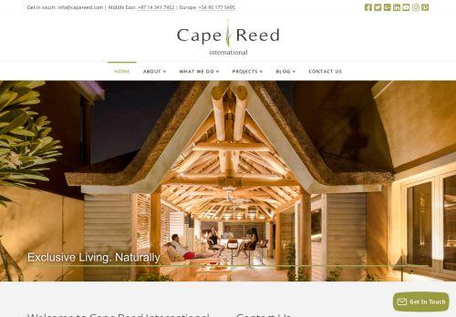 لقطة شاشة لموقع Cape Reed International بتاريخ 05/05/2021 بواسطة دليل مواقع تبادل بالمجان