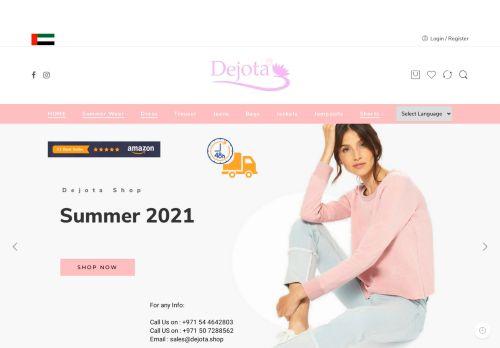 لقطة شاشة لموقع ديجوتا لتجارة الملابس الجاهزة بتاريخ 05/05/2021 بواسطة دليل مواقع تبادل بالمجان