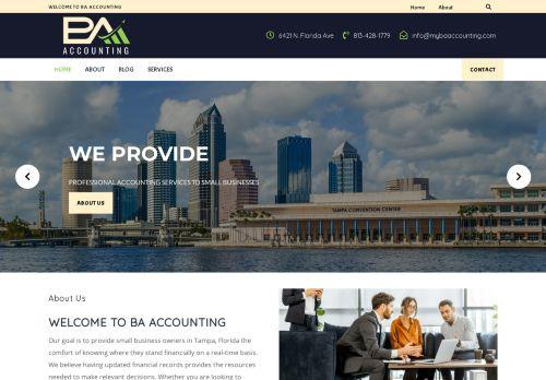 لقطة شاشة لموقع BA Accounting بتاريخ 08/05/2021 بواسطة دليل مواقع تبادل بالمجان