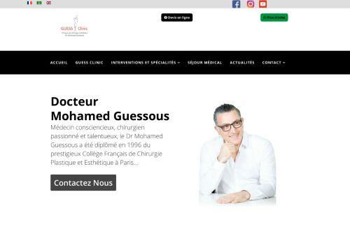 لقطة شاشة لموقع Clinique de chirurgie esthétique et bien être au Maroc بتاريخ 02/06/2021 بواسطة دليل مواقع تبادل بالمجان