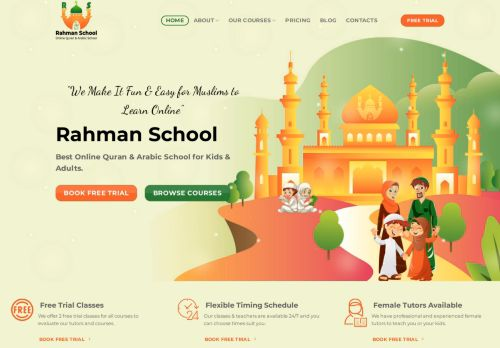 لقطة شاشة لموقع Learn Quran online بتاريخ 26/07/2021 بواسطة دليل مواقع تبادل بالمجان