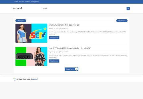 لقطة شاشة لموقع cccam-7 بتاريخ 29/07/2021 بواسطة دليل مواقع تبادل بالمجان