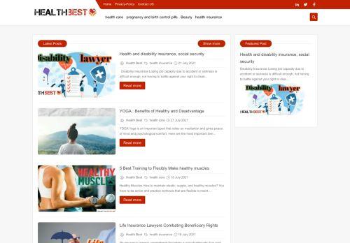 لقطة شاشة لموقع Health Best | Win The Best بتاريخ 02/08/2021 بواسطة دليل مواقع تبادل بالمجان