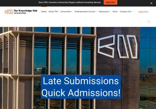 لقطة شاشة لموقع The Knowledge Hub Universities بتاريخ 09/09/2021 بواسطة دليل مواقع تبادل بالمجان