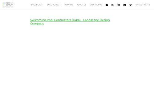 لقطة شاشة لموقع Swimming Pool Contractors Dubai بتاريخ 14/09/2021 بواسطة دليل مواقع تبادل بالمجان