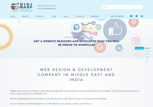 لقطة شاشة لموقع Web Development Company Dubai and Web Design Dubai-Digibaap بتاريخ 16/09/2021 بواسطة دليل مواقع تبادل بالمجان