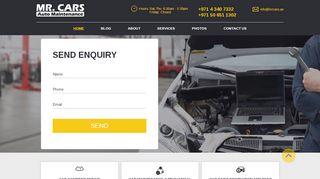 لقطة شاشة لموقع مستر كارز لصيانة السيارات Mr Cars بتاريخ 21/09/2019 بواسطة دليل مواقع تبادل بالمجان