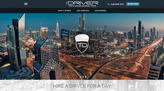 لقطة شاشة لموقع The Driver ذا درايفدر- خدمات السائق الشخصي بتاريخ 22/09/2019 بواسطة دليل مواقع تبادل بالمجان