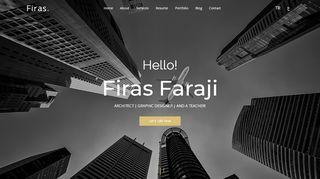 لقطة شاشة لموقع موقع المهندس المعماري فراس فرجي في تركيا بتاريخ 21/09/2019 بواسطة دليل مواقع تبادل بالمجان