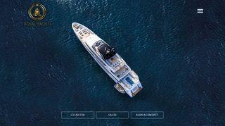 لقطة شاشة لموقع Royal Yachts بتاريخ 21/09/2019 بواسطة دليل مواقع تبادل بالمجان