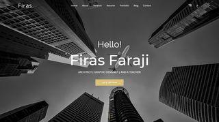 لقطة شاشة لموقع موقع المهندس المعماري فراس فرجي في تركيا بتاريخ 29/09/2019 بواسطة دليل مواقع تبادل بالمجان