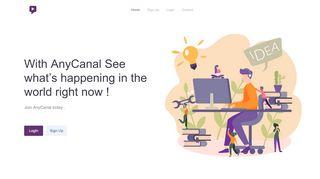 لقطة شاشة لموقع Anycanal بتاريخ 22/10/2019 بواسطة دليل مواقع تبادل بالمجان