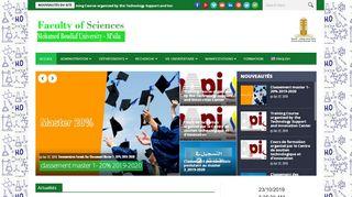لقطة شاشة لموقع كلية العلوم بتاريخ 23/10/2019 بواسطة دليل مواقع تبادل بالمجان
