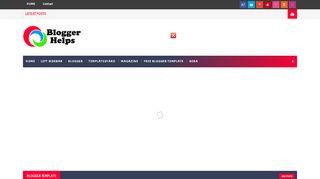 لقطة شاشة لموقع Blogger Helps بتاريخ 03/12/2019 بواسطة دليل مواقع تبادل بالمجان