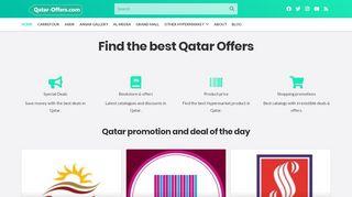 لقطة شاشة لموقع Qatar offers and discounts بتاريخ 21/12/2019 بواسطة دليل مواقع تبادل بالمجان