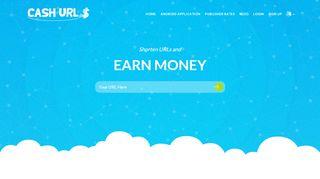 لقطة شاشة لموقع Cash-URLs بتاريخ 15/01/2020 بواسطة دليل مواقع تبادل بالمجان