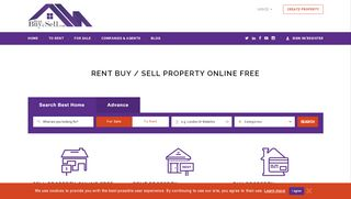 لقطة شاشة لموقع rent buy n sell بتاريخ 25/01/2020 بواسطة دليل مواقع تبادل بالمجان