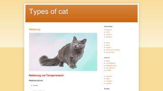 لقطة شاشة لموقع types of cat بتاريخ 19/02/2020 بواسطة دليل مواقع تبادل بالمجان