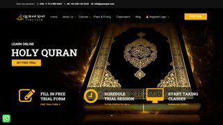 لقطة شاشة لموقع Quran Ayat – Online Quran Institute بتاريخ 26/02/2020 بواسطة دليل مواقع تبادل بالمجان
