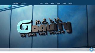 لقطة شاشة لموقع Gravity Media بتاريخ 28/02/2020 بواسطة دليل مواقع تبادل بالمجان