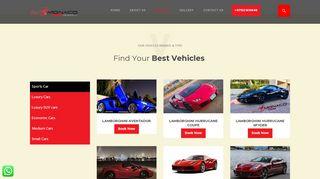 لقطة شاشة لموقع Rent a Sports Cars Dubai - Hire Cheap Sports Cars | Monaco Car Rental بتاريخ 27/03/2020 بواسطة دليل مواقع تبادل بالمجان