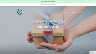 لقطة شاشة لموقع landholystore بتاريخ 07/04/2020 بواسطة دليل مواقع تبادل بالمجان