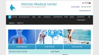لقطة شاشة لموقع مركز العمران الطبي بتاريخ 19/04/2020 بواسطة دليل مواقع تبادل بالمجان