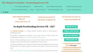 لقطة شاشة لموقع The Ultimate Proofreader بتاريخ 16/05/2020 بواسطة دليل مواقع تبادل بالمجان