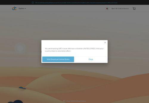 لقطة شاشة لموقع Desertcart بتاريخ 08/08/2020 بواسطة دليل مواقع تبادل بالمجان