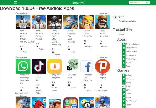 لقطة شاشة لموقع Bring APK بتاريخ 08/08/2020 بواسطة دليل مواقع تبادل بالمجان