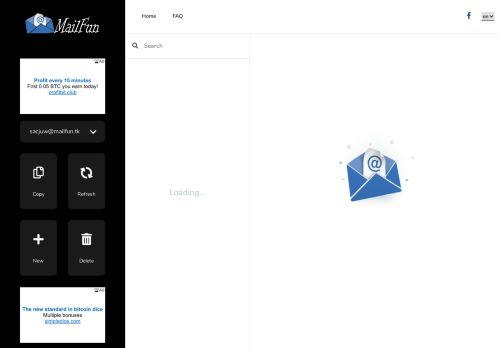 لقطة شاشة لموقع بريد مؤقت بتاريخ 13/09/2020 بواسطة دليل مواقع تبادل بالمجان