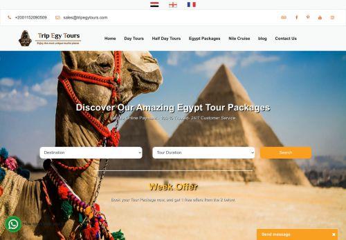لقطة شاشة لموقع TripEgyTours بتاريخ 20/09/2020 بواسطة دليل مواقع تبادل بالمجان