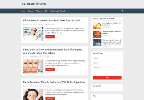 لقطة شاشة لموقع HEALTH AND FITNESS بتاريخ 28/09/2020 بواسطة دليل مواقع تبادل بالمجان
