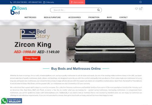 لقطة شاشة لموقع Bed and Pillows بدز اند بيلوز بتاريخ 02/10/2020 بواسطة دليل مواقع تبادل بالمجان