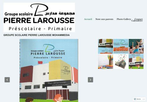 لقطة شاشة لموقع Ecole Pierre Larousse Mohammedia بتاريخ 07/10/2020 بواسطة دليل مواقع تبادل بالمجان