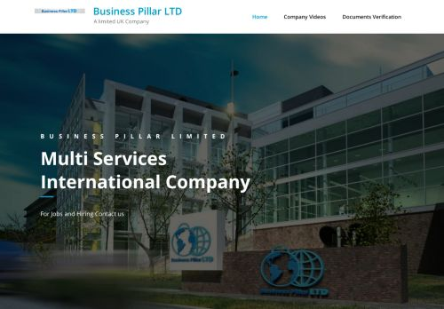 لقطة شاشة لموقع شركة ركائز الأعمال Business Pillar LTD بتاريخ 02/11/2020 بواسطة دليل مواقع تبادل بالمجان