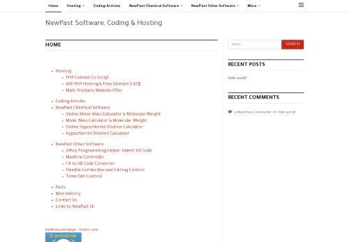 لقطة شاشة لموقع نيوباست للانترنت والبرمجيات بتاريخ 10/11/2020 بواسطة دليل مواقع تبادل بالمجان
