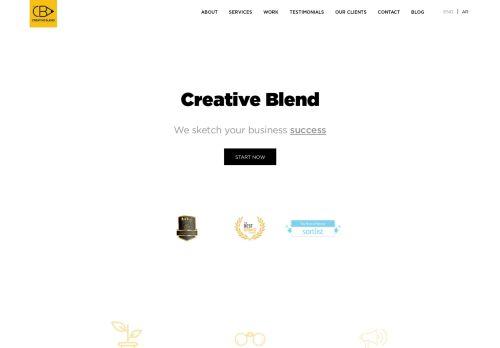 لقطة شاشة لموقع creative blend بتاريخ 15/11/2020 بواسطة دليل مواقع تبادل بالمجان