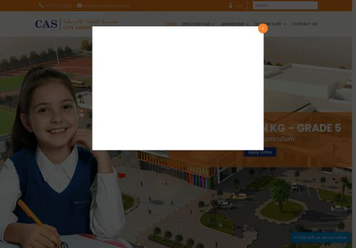 لقطة شاشة لموقع مدرسة المدينة الأمريكية بعجمان بتاريخ 26/11/2020 بواسطة دليل مواقع تبادل بالمجان