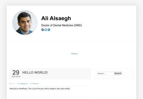 لقطة شاشة لموقع د. علي الصائغ بتاريخ 26/11/2020 بواسطة دليل مواقع تبادل بالمجان