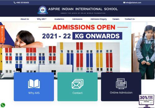 لقطة شاشة لموقع Top most Indian School in Kuwait -Aspire International school بتاريخ 29/11/2020 بواسطة دليل مواقع تبادل بالمجان