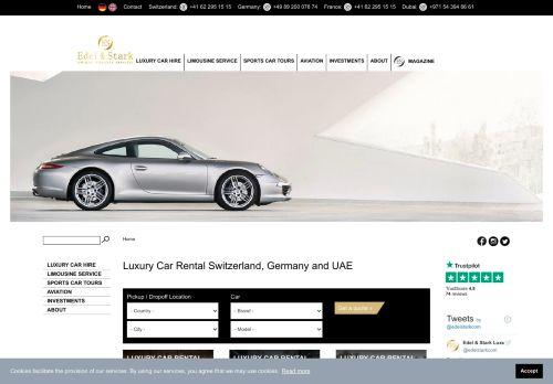 لقطة شاشة لموقع Edel & Stark لتأجير السيارات الفارهة بتاريخ 16/12/2020 بواسطة دليل مواقع تبادل بالمجان