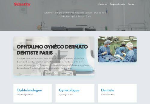 لقطة شاشة لموقع أطباء فرنسا بتاريخ 19/01/2021 بواسطة دليل مواقع تبادل بالمجان