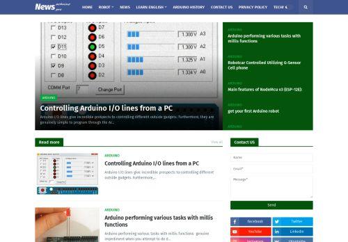 لقطة شاشة لموقع arduino project بتاريخ 19/01/2021 بواسطة دليل مواقع تبادل بالمجان
